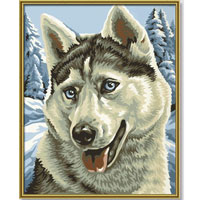 Собака хаски раскраска 192